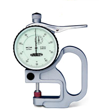 Đồng hồ đo độ dày vật liệu kiểu cơ Insize 2364-10B (0-10mm / 0.01mm)