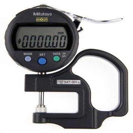 Đồng hồ đo độ dày vật liệu điện tử Mitutoyo 547-301 (0-10mm/ 0.01mm)