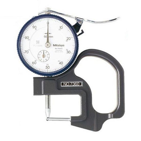 Đồng hồ đo độ dày vật liệu kiểu cơ Mitutoyo 7360 (0-10mm/ 0.01mm)