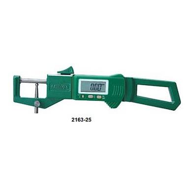 Đồng hồ đo độ dày vật liệu điện tử Insize 2163-25, 0-25mm, 0-2mm /0.01mm
