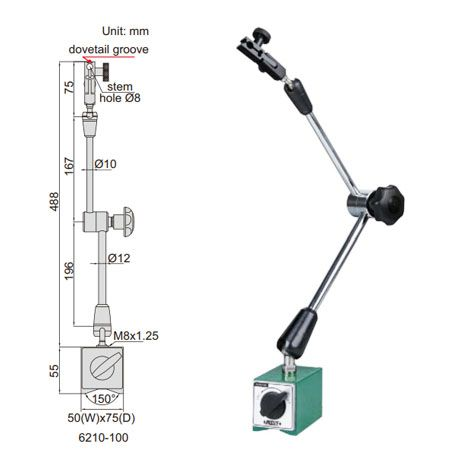 Đế Từ INSIZE 6210-100(100kgf,Ø8mm)
