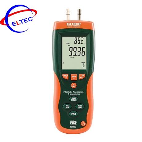 Máy đo tốc độ gió, áp suất chênh lêch đường ống EXTECH HD350 (±0.7252psi, 80m/s)