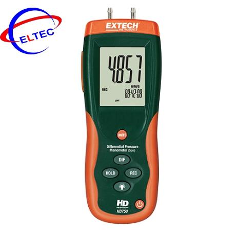 Máy đo áp suất chênh lệch Extech HD750, ±5psi (344mbar)