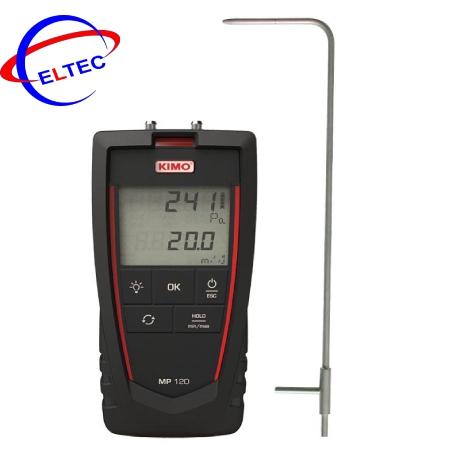 Máy đo áp suất, tốc độ gió cầm tay KIMO MP120 (-1000 ….+1000Pa, 0-40m/s)