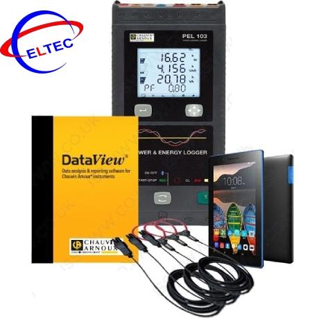 Bộ kit ghi dữ liệu, đo công suất, sóng hài Chauvin Arnoux PEL103 (P01299956)