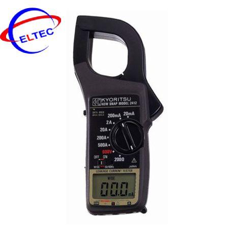Ampe kìm đo dòng dò Kyoritsu 2412 (20/200mA/2/20/200/500A)