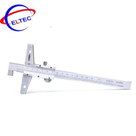 Thước đo độ sâu cơ khí (có móc câu) Insize 1248-200 (0-200mm/0.05mm)