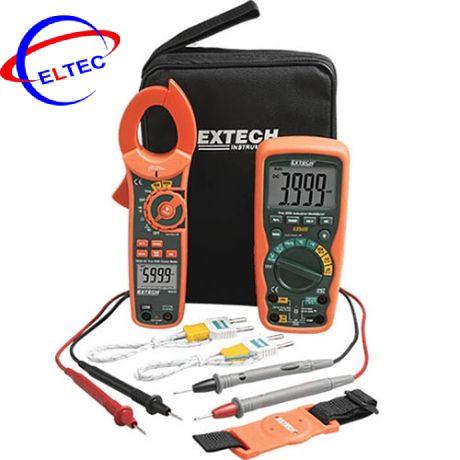 Bộ kit đồng hồ vạn năng + Ampe kìm Extech MA620-k