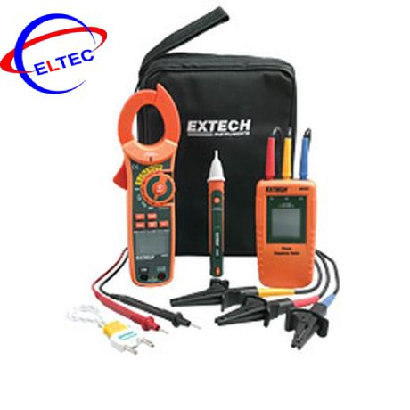 Bộ kít Ampe kìm AC/DC + Bút thử điện + chỉ thị pha Extech MA640-K (600A)