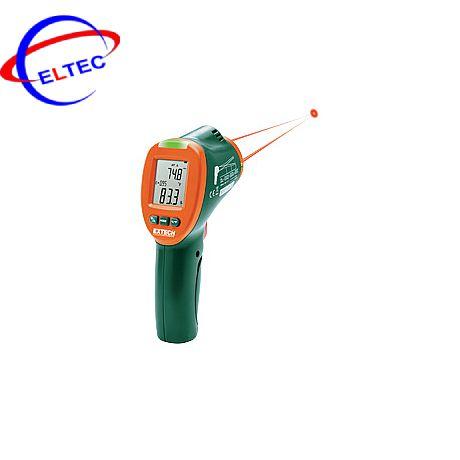 Máy đo nhiệt độ, độ ẩm dùng laser hồng ngoại kép Extech IRT600 ( -30 tới 350°C, 20 – 80%RH)
