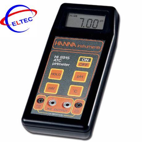 Máy đo ghi đầu ra pH/mV/°C Hanna HI8915 (0.00 – 14.00 pH)