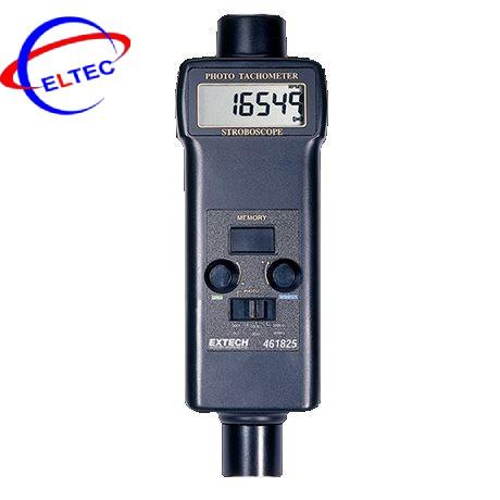 Máy đo tốc độ vòng quay không tiếp xúc, đèn chớp Extech 461825 (Photo 0.5 đến 20,000, Strobe 5 đến 99,999)