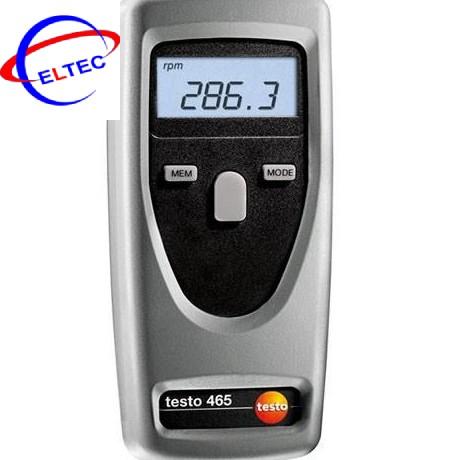 Máy đo tốc độ vòng quay testo 465 (1 ~ 99999 rpm; ±0.02 %)