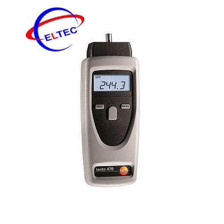 Máy đo tốc độ vòng quay Testo 470 (1 ~ 99999 rpm; ±0.02 %, đầu đo mũi nhọn, đĩa đo)