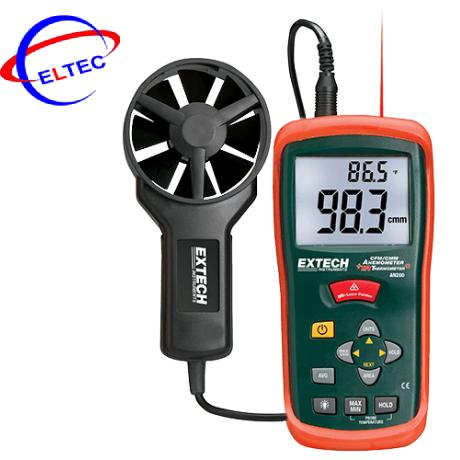 Máy đo nhiệt độ, tốc độ, lưu lượng gió Extech AN200 (0.4 đến 30.0 m/s, có tích hợp đo nhiệt độ bằng hồng ngoại)