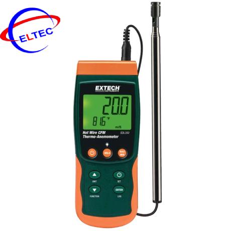 Máy đo lưu lượng, tốc độ gió, đo nhiệt độ Extech SDL350 (datalogger, 25m/s)