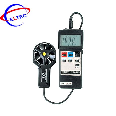 Máy đo tốc độ gió, độ ẩm, nhiệt độ môi trường Lutron AM-4205 (25m/s)