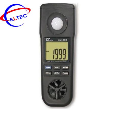 Máy đo tốc độ gió, ánh sáng, độ ẩm, nhiệt độ LUTRON LM-8100
