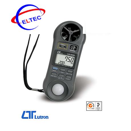Máy đo ánh sáng, tốc độ gió, nhiệt độ, độ ẩm, áp suất, lưu lượng gió Lutron LM9000