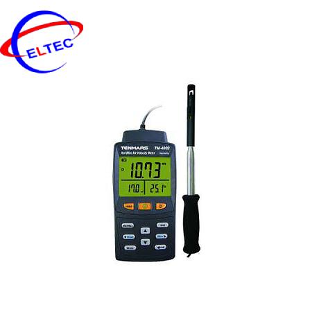 Máy đo tốc độ gió, lưu lượng gió Temars TM-4001 (0.01~25.00 m/s, 80%, 50℃, 0~9999 CMM)