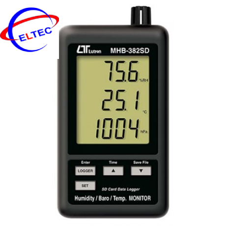 Máy đo áp suất, nhiệt độ, độ ẩm LUTRON MHB-382SD