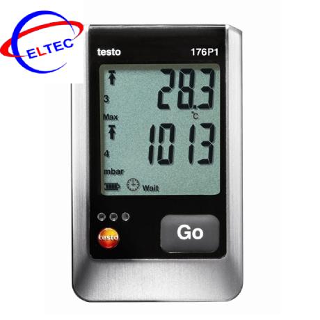 Bộ ghi dữ liệu nhiệt độ, áp suất, độ ẩm Testo 176 P1 (0572 1767, -20 ~ +70 °C; 0 ~ 100 %RH; 600 ~ 1100 mbar, IP 54)