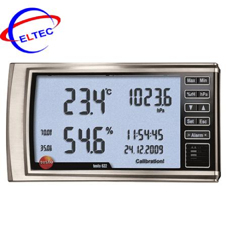 Nhiệt ẩm kế và áp suất testo 622 (0560 6220, -10 ~ +60 °C; 300 ~ 1200 hPa)