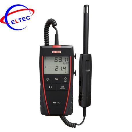 Máy đo nhiệt độ, độ ẩm, điểm sương cầm tay Kimo HD110 (5 – 95%HR, -20 – +70°C )